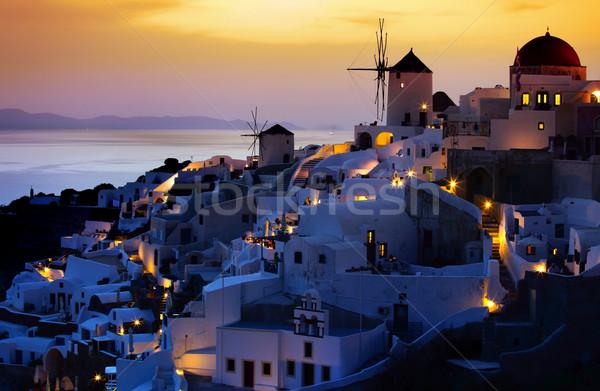 Santorini blu isola bianco cultura esterna Foto d'archivio © mikdam