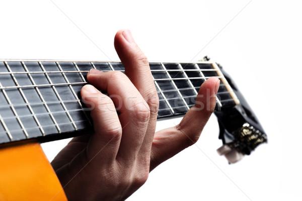 Playing guitar Stock photo © mikdam