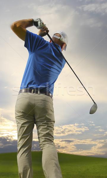 гольфист фотография полный Swing гольф Сток-фото © mikdam