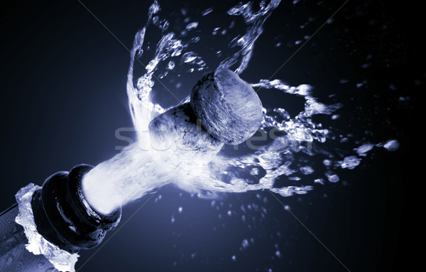 Close up of champagne cork popping Stock photo © mikdam
