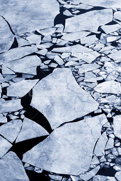 Kırık buz arka soğuk tehlike biçim Stok fotoğraf © mikdam