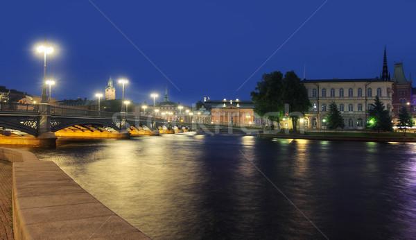 Stockholm Cityscape Stock photo © mikdam