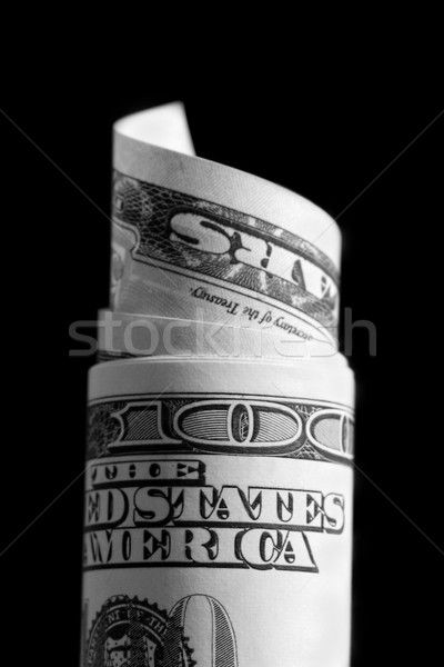 rolled up 100 dollar bill Stock photo © mikdam