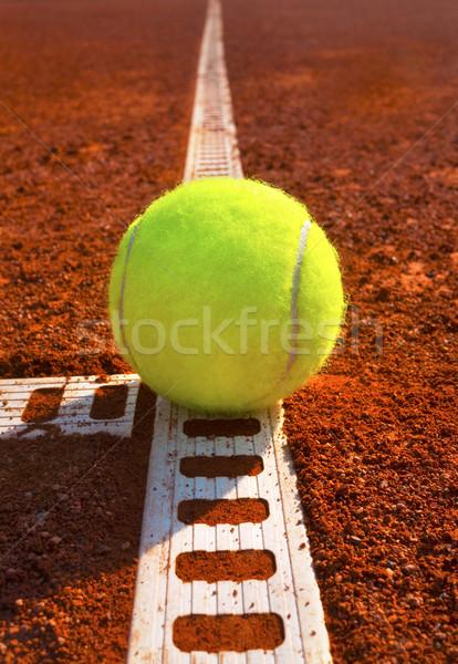 Tennisbal tennisbaan sport bal rechter Stockfoto © mikdam