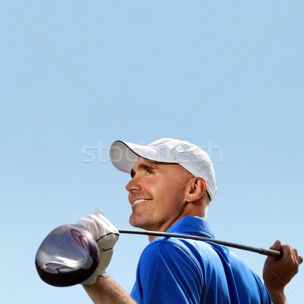 笑みを浮かべて ゴルファー ゴルフ クラブ 肩 ストックフォト © mikdam