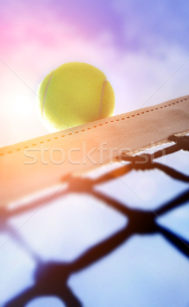Teniszlabda perem sport kék labda bíróság Stock fotó © mikdam