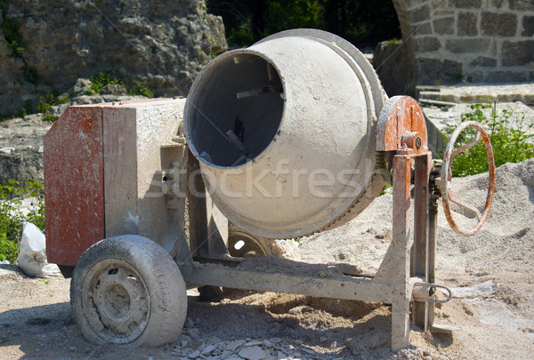 cement mixer on the construction site Stock photo © mikdam