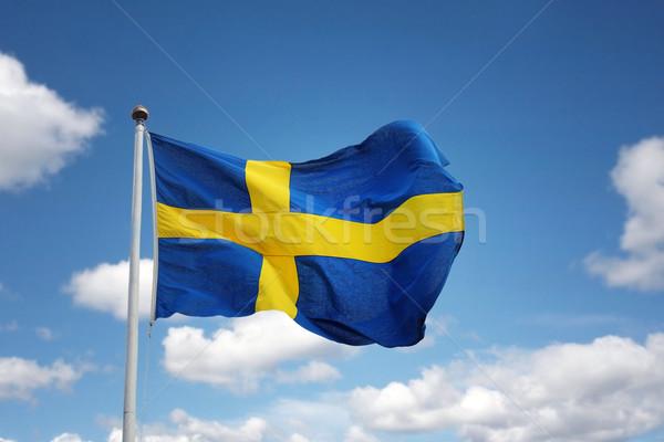 Swedish flag Stock photo © mikdam