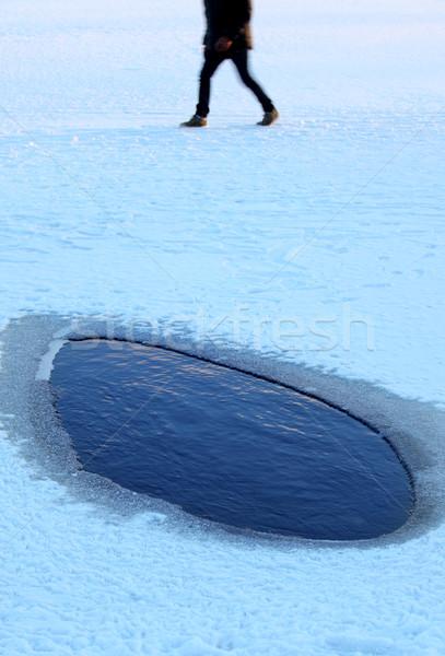 Tehlike kırık buz su doğa deniz Stok fotoğraf © mikdam
