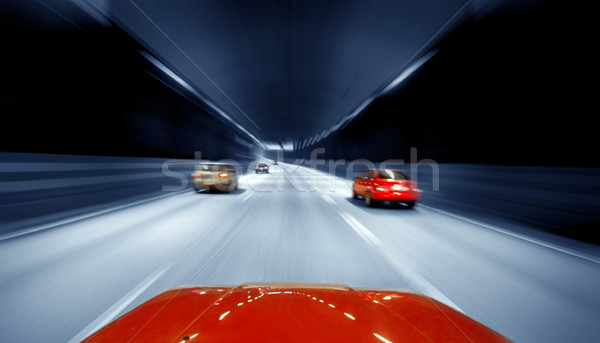 Stock photo:  Traffic on Freeway
