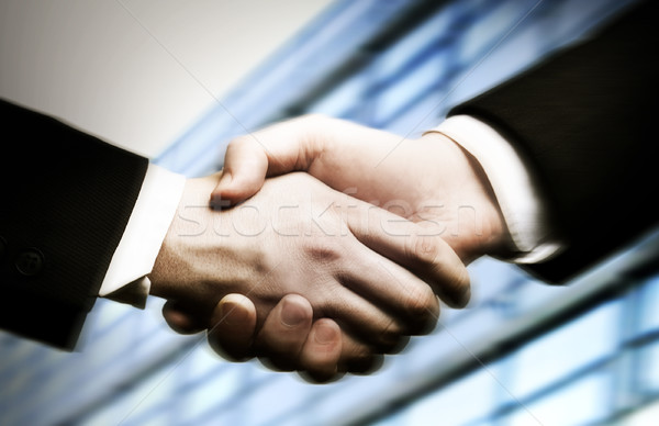Photo stock: Affaires · serrer · la · main · bureau · mains · fond · affaires