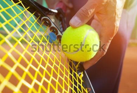 男性 アクション スポーツ テニス ボール ストックフォト © mikdam