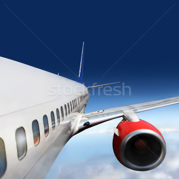 wings and engines of aircraft Stock photo © mikdam