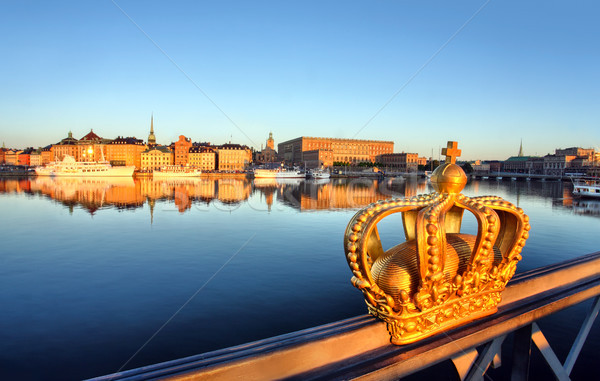 stockholm view with crown  Stock photo © mikdam