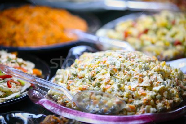ビュッフェ 表 フル 食品 食べ ストックフォト © mikdam