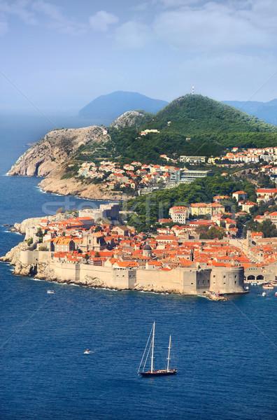 Dubrovnik água cidade igreja azul Foto stock © mikdam
