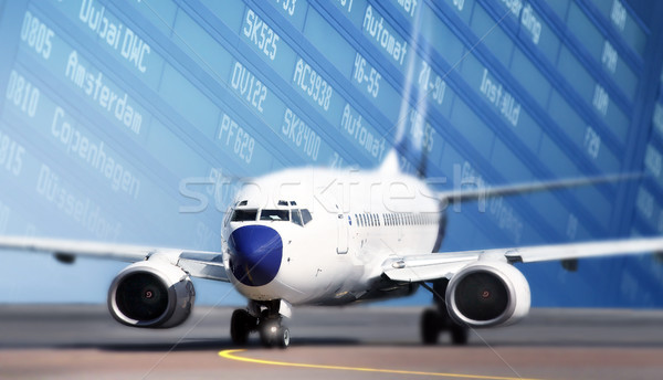 Aircraft on runway  Stock photo © mikdam