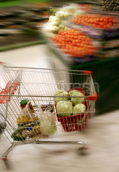 shopping in grocery store Stock photo © mikdam