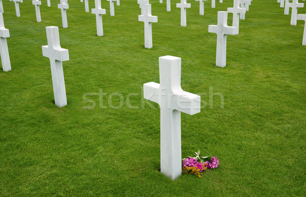 American cemetery in Omaha Beach, Normandy Stock photo © mikdam