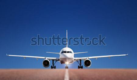 Boing on runway Stock photo © mikdam