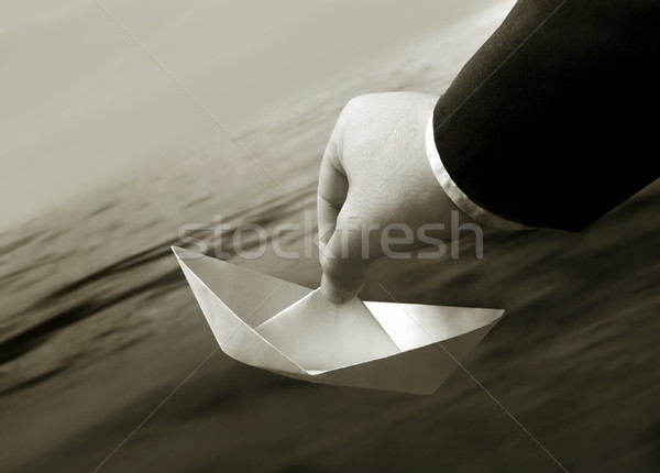 Paperboat Stock photo © mikdam