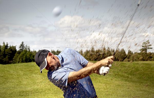 гольфист съемки мяч для гольфа гольф песок мяча Сток-фото © mikdam