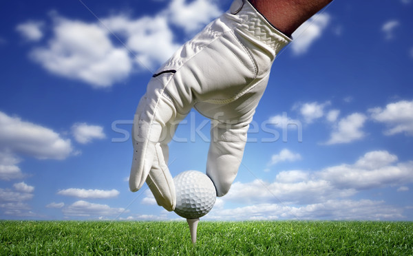 Close-up of a golf ball Stock photo © mikdam