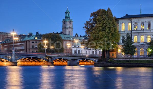 Stockholms city Stock photo © mikdam