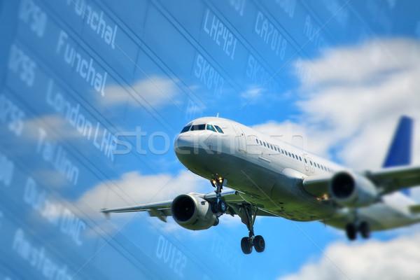 Avião aterrissagem avião transporte vôo Foto stock © mikdam