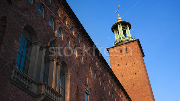 The city hall, Stockholm Stock photo © mikdam