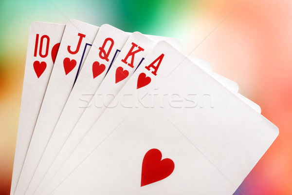 Stock photo: Royal flush