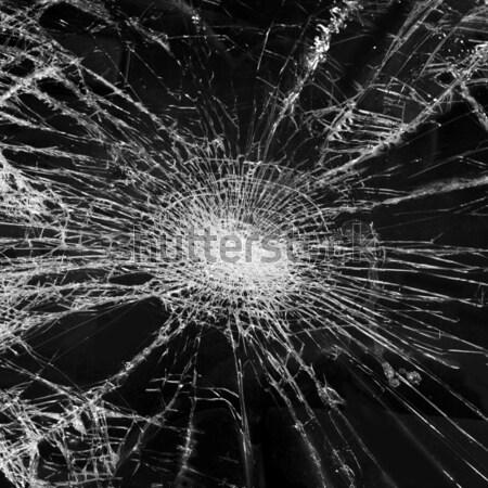Distrutto vetro finestra rotto assicurazione crash Foto d'archivio © mikdam