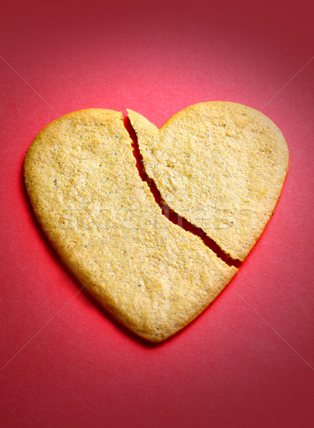 Gingerbread cookie in the shape of a broken heart  Stock photo © mikdam
