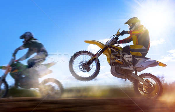 motocross rider Stock photo © mikdam