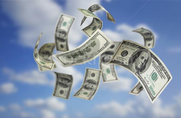 Falling Money $100 Bills  Stock photo © mikdam