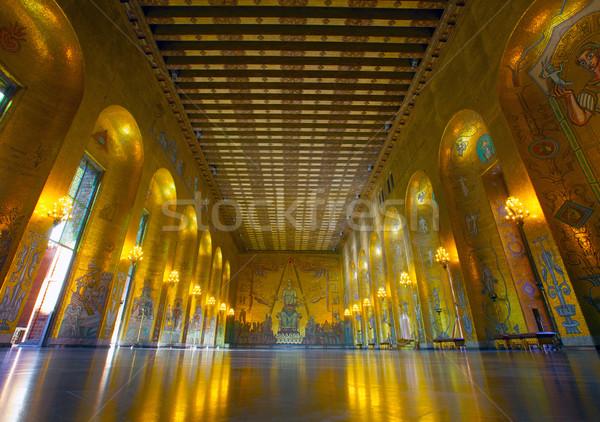 Sweden, Stockholm, Kungsholmen, City Hall, the Golden Room Stock photo © mikdam