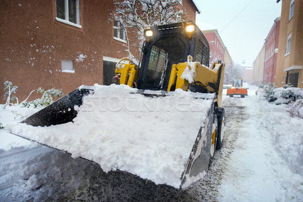 Snow plow for road cleaning Stock photo © mikdam