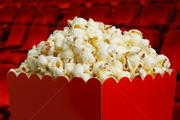 Box of popcorn  Stock photo © mikdam