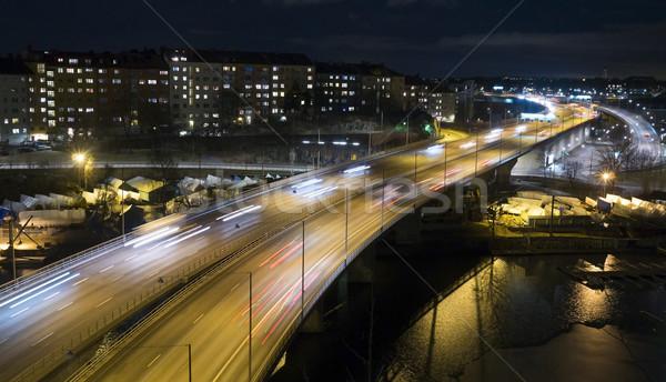 Trafik otoban Stockholm İsveç hızlandırmak hareketli Stok fotoğraf © mikdam