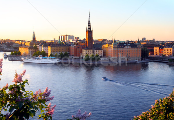 Sztokholm lata miejskich czyste Europie wakacje Zdjęcia stock © mikdam