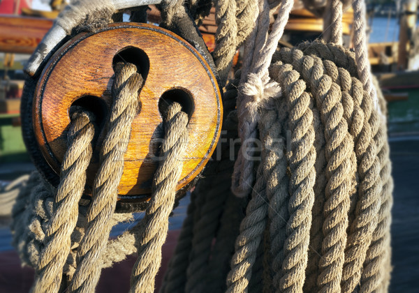 Close-up of a fasten rope Stock photo © mikdam