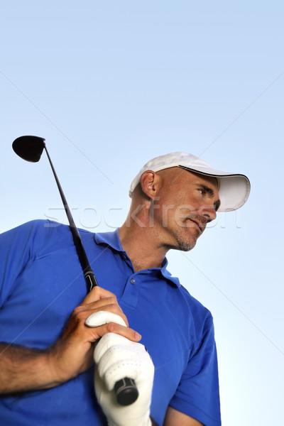 Maduro jogador de golfe esportes pessoa masculino em pé Foto stock © mikdam