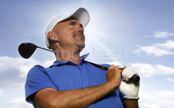 Smiling Golfer Stock photo © mikdam