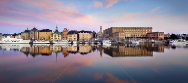 Stockholm şehir güzellik seyahat kentsel renk Stok fotoğraf © mikdam