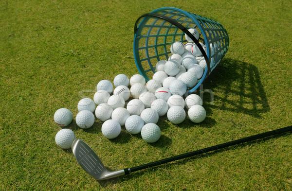 Kosár vezetés terjedelem golf golyók áramló Stock fotó © mikdam