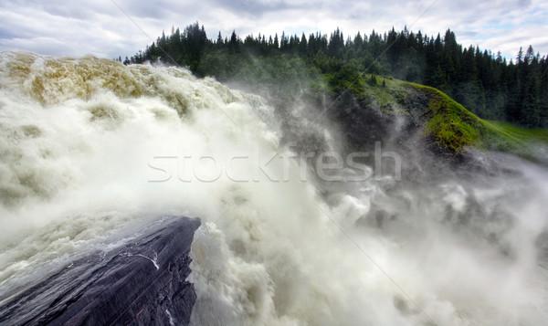 Cascata Svezia acqua potere naturale Foto d'archivio © mikdam