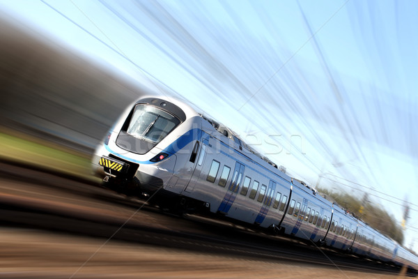 Stock photo: Fast train in motion