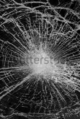 Vernietigd glas venster gebroken verzekering crash Stockfoto © mikdam