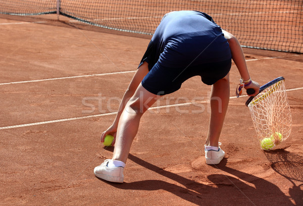 A ball boy in action Stock photo © mikdam