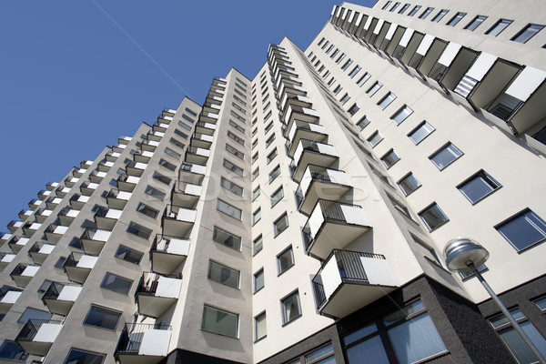 Apartment building with balconies Stock photo © mikdam
